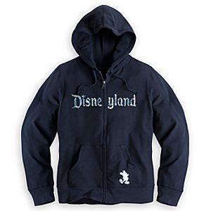 Disneyland Sequined Hoodie for Women - Black