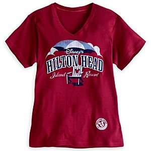 Disneys Hilton Head Island Resort V-Neck Tee for Adults - Limited Availability