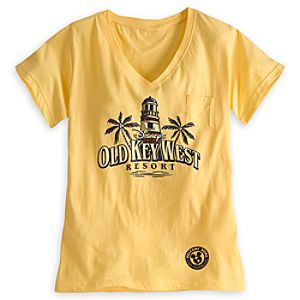 Disneys Old Key West Resort V-Neck Tee for Adults - Limited Availability