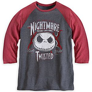 Jack Skellington Raglan Tee for Men
