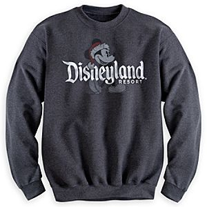 Santa Mickey Mouse Sweatshirt - Disneyland
