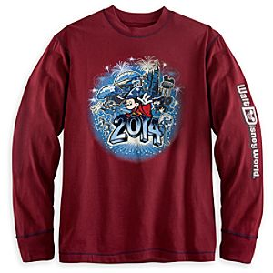 Sorcerer Mickey Mouse and Friends Long Sleeve Tee for Men - Walt Disney World 2014