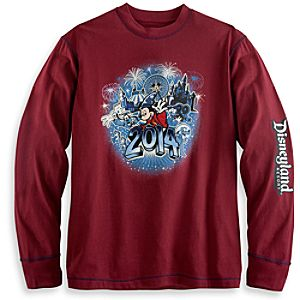 Sorcerer Mickey Mouse and Friends Long Sleeve Tee for Men - Disneyland 2014