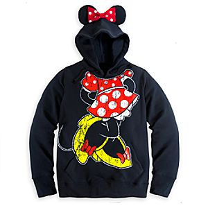 Minnie Mouse Ear Hoodie for Women