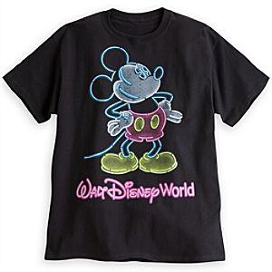 Mickey Mouse Glow-in-the-Dark Tee for Adults - Walt Disney World
