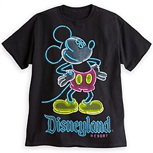 Mickey Mouse Neon Tee for Adults - Disneyland