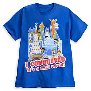 I Conquerered its a small world! Tee for Adults