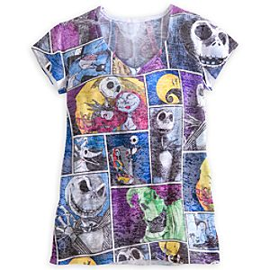 Tim Burtons The Nightmare Before Christmas Tee for Women