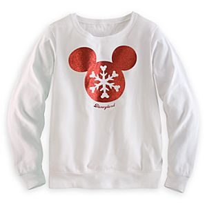 Mickey Mouse Snowflake Long Sleeve Tee for Women - Disneyland