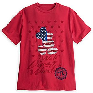 Mickey Mouse Stars and Stripes Tee for Men - Walt Disney World