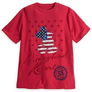 Mickey Mouse Stars and Stripes Tee for Men - Disneyland