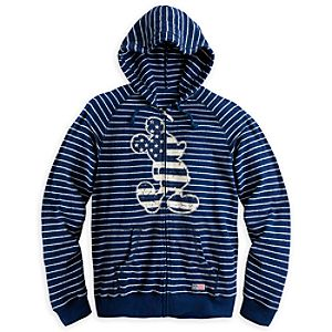 Mickey Mouse Striped Hoodie for Men - Walt Disney World