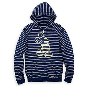 Mickey Mouse Striped Hoodie for Men - Disneyland