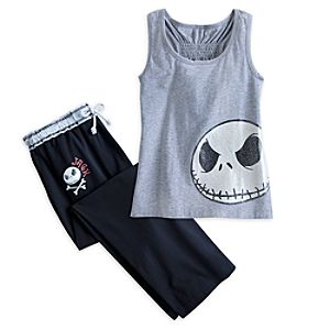 Jack Skellington Pajama Tank Top for Women