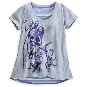 Nightmare Before Christmas Chiffon Trapeze Top for Women