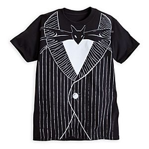 Jack Skellington Costume Tee for Adults