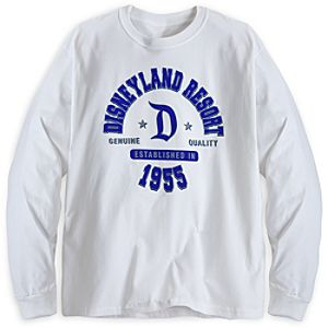 Disneyland Resort Long Sleeve Athletic Tee for Adults - White