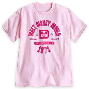 Walt Disney World Athletic Tee for Adults - Pink