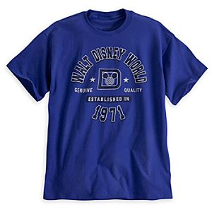 Walt Disney World Athletic Tee for Adults - Blue