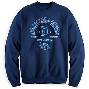 Disneyland Resort Athletic Sweatshirt for Adults - Navy