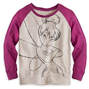Tinker Bell Long Sleeve Raglan Tee for Women