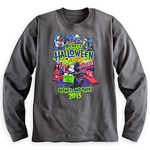 Mickeys Halloween Party Long Sleeve Tee for Adults - Disneyland - Limited Availability