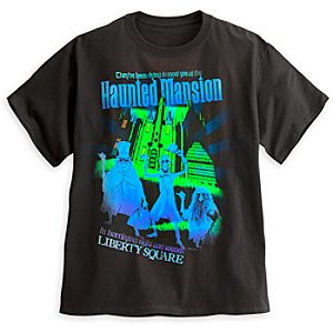 The Haunted Mansion Attraction Poster Tee for Adults - Walt Disney World