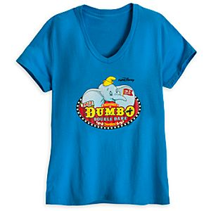 Limited Availability Commemorative RunDisney Dumbo Double Dare 2013 V-Neck Tee for Women