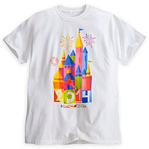 Disney Parks Castle Tee for Adults - 2014 - Limited Time Magic