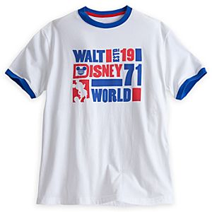 Walt Disney World Ringer Tee for Men - White