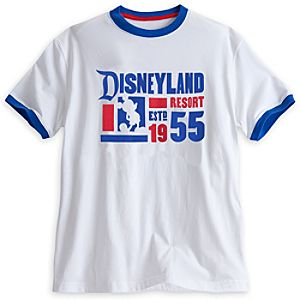 Disneyland Ringer Tee for Men - White