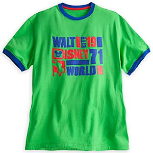 Walt Disney World Ringer Tee for Men - Green