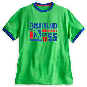 Disneyland Ringer Tee for Men - Green