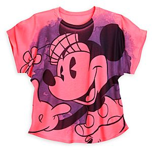 Minnie Mouse Neon Tee for Women