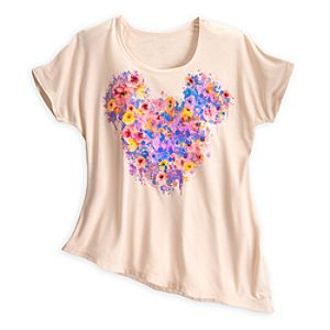 Mickey Mouse Floral Tee for Women