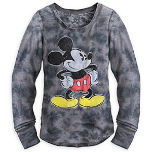 Mickey Mouse Long Sleeve Thermal Tee for Women