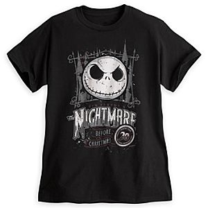 Tim Burtons The Nightmare Before Christmas 20th Anniversary Tee for Adults - Limited Availability