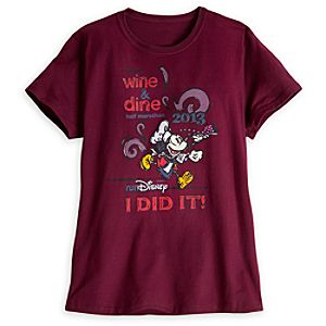 Mickey Mouse I Did It Wine & Dine Tee for Women - RunDisney