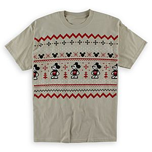 Mickey Mouse Fair Isle Tee for Adults - Taupe