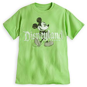 Mickey Mouse Tee for Adults - Disneyland - Lime