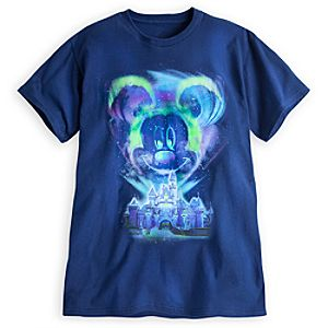 Mickey Mouse Northern Lights Tee for Adults - Disneyland