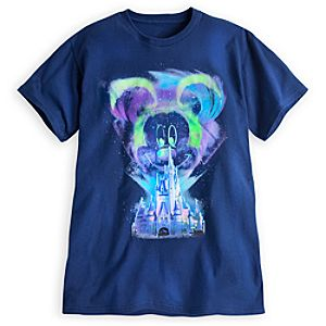 Mickey Mouse Northern Lights Tee for Adults - Walt Disney World