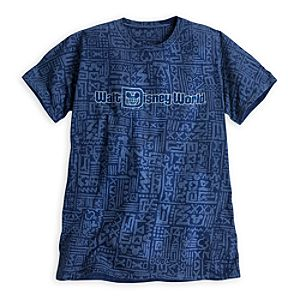 Walt Disney World Folk Print Tee for Adults - Blue
