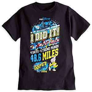 Dopey Tee for Men - RunDisney 2014 - Limited Availability