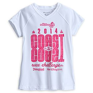 Coast to Coast Performance Tee for Women - RunDisney 2014 - Limited Availability