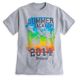 Mickey Mouse Summer Vacation 2014 Tee for Adults - Disneyland