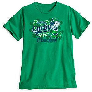 Mickey Mouse St. Patricks Day Tee for Men - Disneyland - Limited Availability
