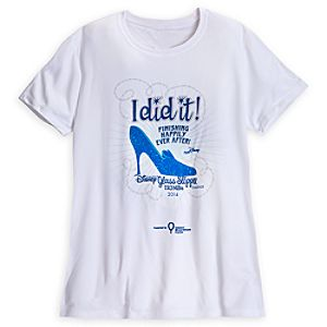 Disney Glass Slipper Challenge Performance Tee for Adults - RunDisney 2014 - Limited Availability