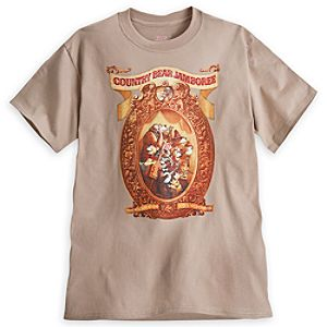 Country Bear Jamboree Attraction Poster Tee for Adults - Limited Availability