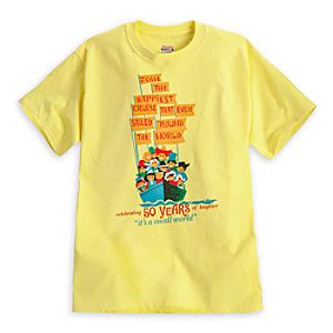 its a small world Attraction Poster Tee for Adults - 50th Anniversary - Limited Availability